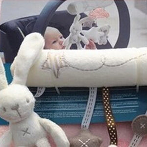 2017 plush rabbit baby stroller mobile crib haning bedding toy multifunctional music baby car safety seats baby pram accessories