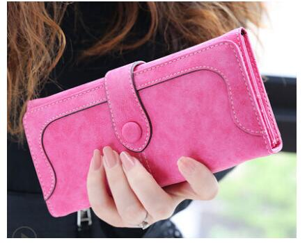 2018 Fashion Retro Matte Stitching leather Wallet Women Long Purse Clutch Women Casual Hasp Dollar Price Wallet Handbag carteira
