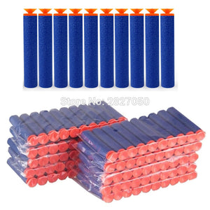 20pcs Soft Hollow Hole Head Blue 7.2cm Refill Darts Toy Gun Foam Safe Sucker Bullet For Boy Childs Kid Nerf