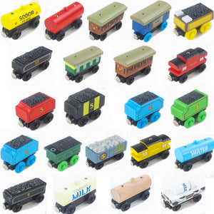 22 Styles Wooden Train Toys Thomas And Friends Magnetic Wooden Trains Model Baby Children Kids Toys New Year Gift