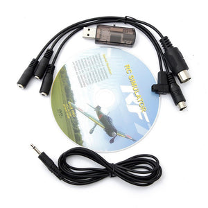 22 in 1 22in1 RC USB Flight Simulator Cable for Realflight G7 / G6 G5.5 G5 Phoenix 5.0 Flysky FS-I6 FS-TH9X FS-T6 FS-CT6B