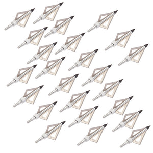 24pcs Black100Grain Hunting arrow heads arrows use compound bow Crossbow recurve fiberglass /carbon arrow to Archery Shooting