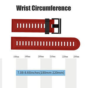 26mm Width Sport Watchband for Garmin Fenix 3/Fenix3HR/Fenix 5X Outdoor Sport Silicone Strap for Garmin Fenix with tools