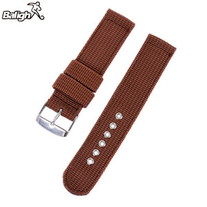 2750mxgq Military Army Nylon Fabric Canva Wrist Watch Band Strap 18/20/22/24mm 4Color