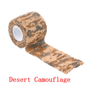 2PCS/Pack 5cm*4.5m Camouflage Stealth Shooting Hunting Tape Camo Outdoor Army Tape Wrap Hunting Accessories Wholesale