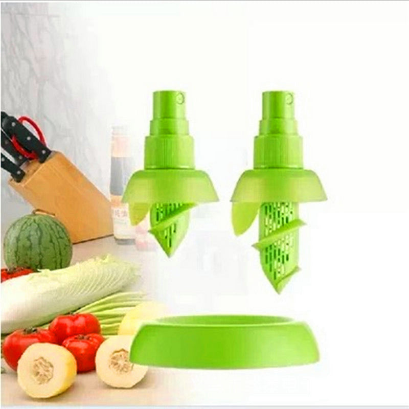 2Pcs/set Creative Lemon Sprayer Fruit Juice Citrus Lime Juicer Spritzer Kitchen Gadgets Spray Fresh Fruit Juice Random Color