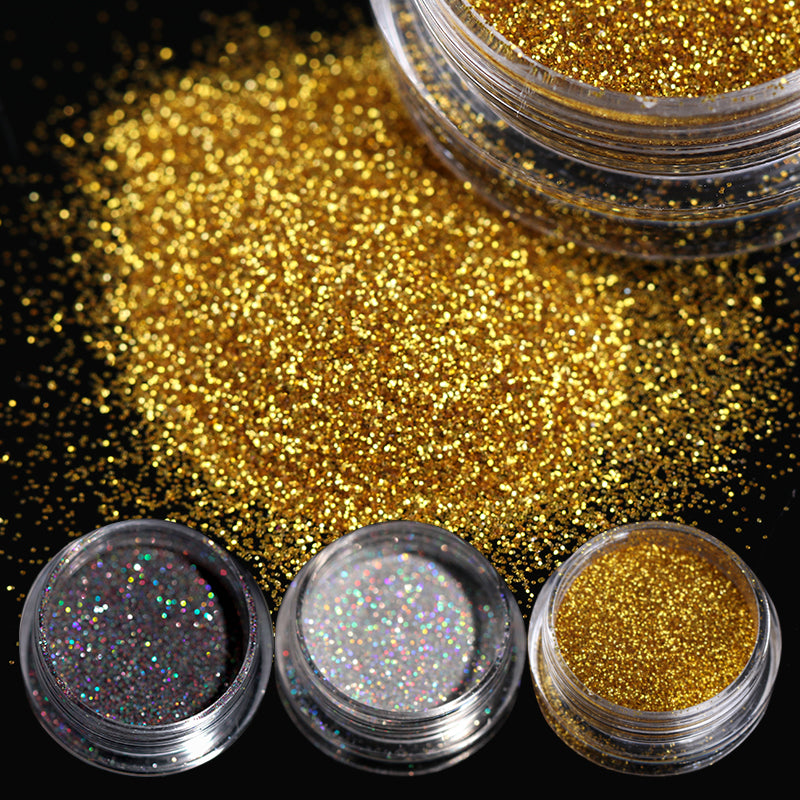 2g/Box Holographic Nail Glitter Powder Shining Sugar Nail Glitter ...