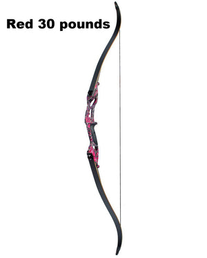 "3 Color 30-50lbs Recurve Bow 56"" American Hunting Bow Archery With 17 inches Metal Riser Tranditional Long Bow Hunting"