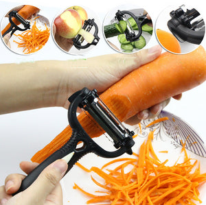3 in 1 Multifunction 360 Degree Rotary Potato Peeler Melon Gadget Vegetable Fruit turnip Slicer Cutter Carrot Kitchen Tools