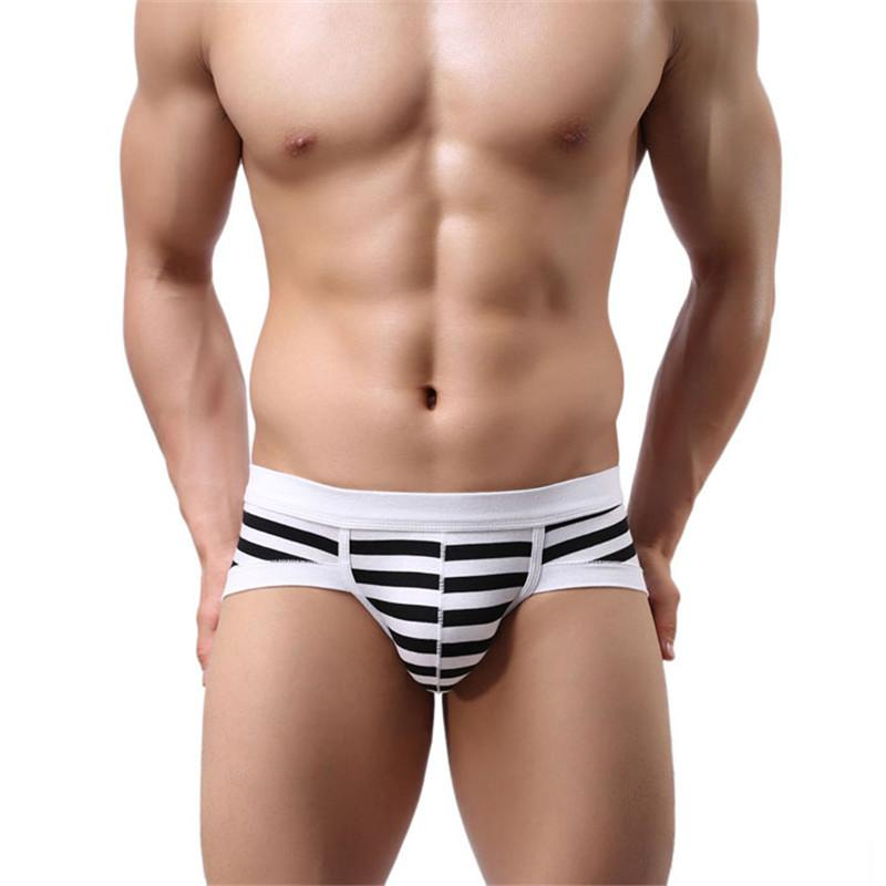 #3001 Breathable Brand New 2016 Men's Sexy Stripe Cotton Underwear shorts men underpants Soft clothes 6 Colors High Quality - Cerkos.com