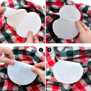 30PCS Disposable Absorbing deodorant Antiperspirant Health Underarm sweat Guard Pads Armpit Sheet Liner Dress Clothing Shield