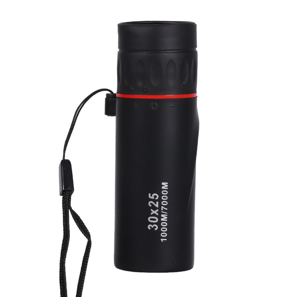 30x25 HD Optical Monocular Low Night Vision Waterproof Mini Portable Focus Telescope Zoomable 10X Scope for Travel Hunting
