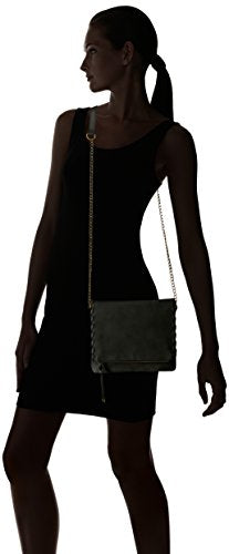 T-Shirt & Jeans Flap Cross Body with Chain Handle, Black
