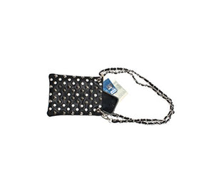 "Small Crossover Purse for Women - STUDS, Designer Bags - LTPURPLE / BLK, 6"" x 8"" x 1"""