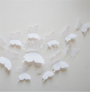 3D PVC Butterfly Wall Stickers Home Decor Butterfly Wall Decals For Kids Room TV Wall Stickers Kitchen Kids Wall Sticker Flower