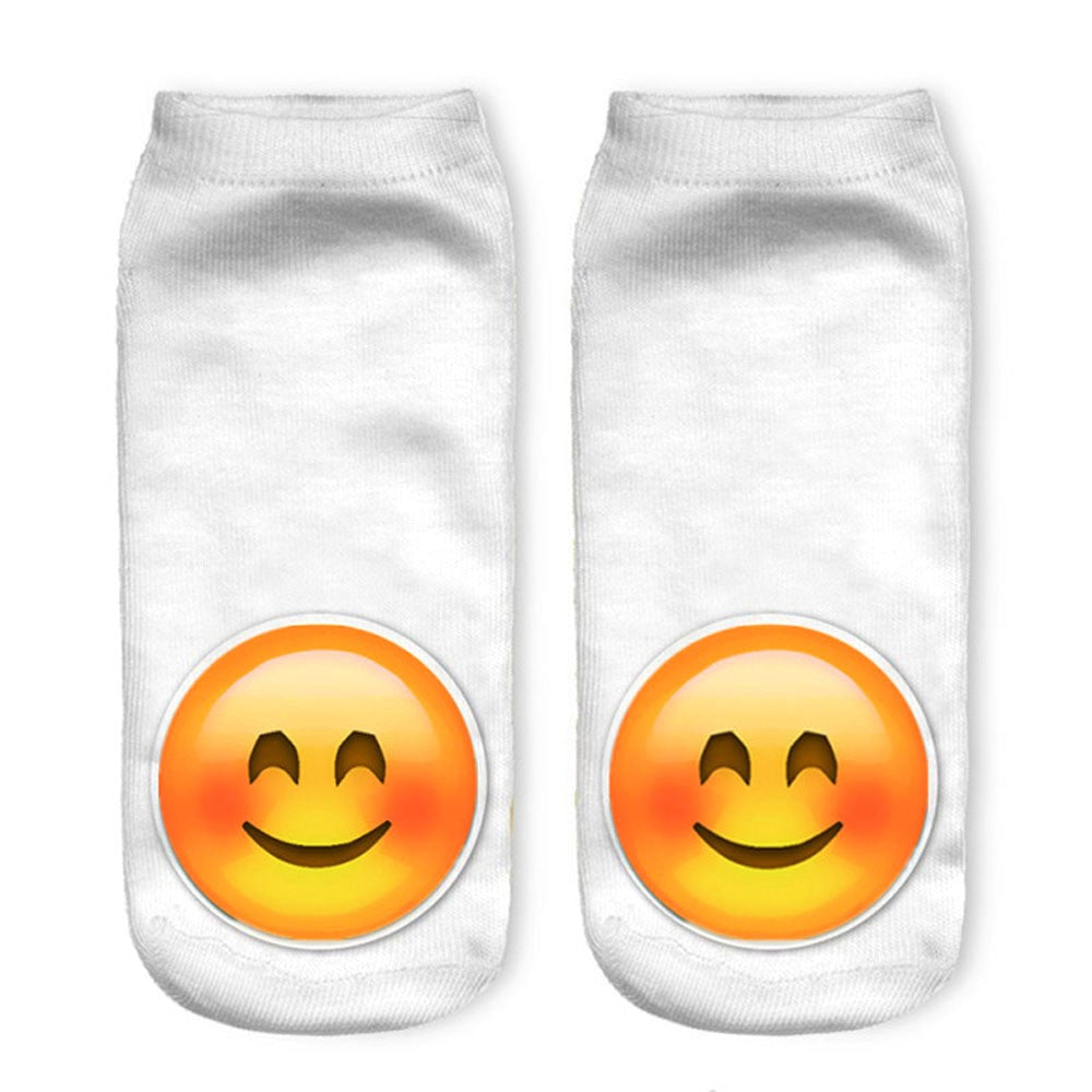 3D Socks Brand Sock Boat Meias fashion Printing Unisex Socks Emoji Pattern Meias Feminina Funny Low Ankle HOT