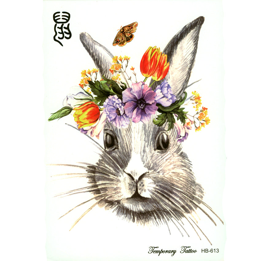 3pcs Cute rabbit Zodiac Tatto Sticker tattoo Childs Temporary Tattoo Body Art Flash Tattoo tatoo Henna Tattoo sleeves