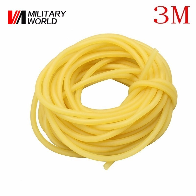 3x5mm 3M Hunting Shooting Natural Stretch Latex Tube for Tactical Slingshot Elastic Fitness Medical Rubber Band Bungee Equipment