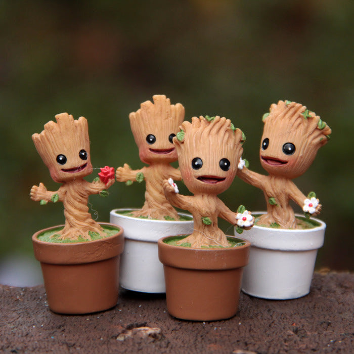 4.8cm Guardians of the Galaxy random Marvel doll ornaments model Landscape tree man Action Figure Toy collection decoration gift