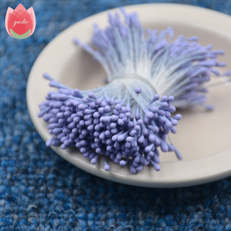 400pcs 1.5mm Mini Stamen Handmade Artificial Flowers For Wedding Party Home Decoration DIY Christmas Scrapbook Accessories