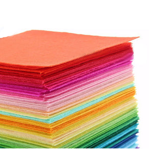 40pcs/set New Non Woven Felt Fabric 1mm Thickness Polyester Cloth Felts DIY Bundle For Sewing Dolls Crafts 15x15cm