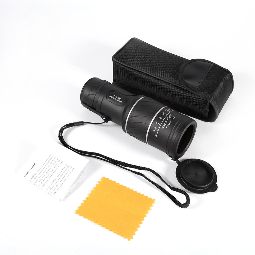 40x60 Clarity HD Optic Zoom Pocket Telescope Monocular Telescope Low Night Vision Green Film Optics Telescope for Travel Sport