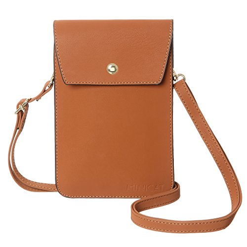 MINICAT Back Slot Series Small Crossbody Cell Phone Purse Wallet Smartphone Bags For Women(Tan)