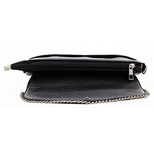 Womens Small Leather Crossbody Bag, Zipper Clutch Phone Wallet Purse with [2 layers] for Women