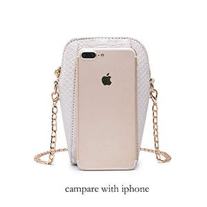 Lryc Crossbody Phone Purse (S, White)