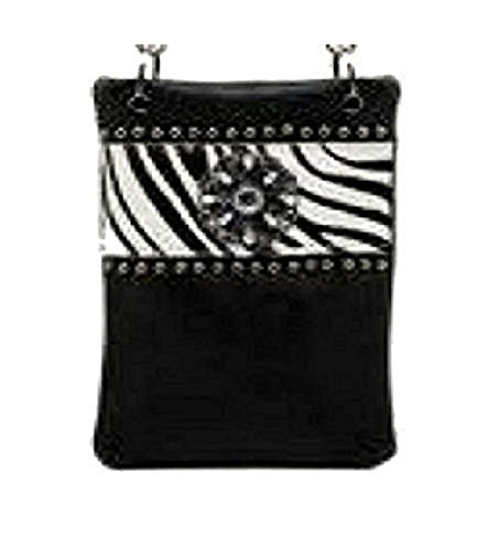 "Ladies Cross Body Handbags - ANIMAL PRINT, Small Designer Bags - ZEBRA, 6"" x 8"" x 1"""