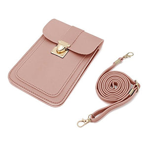 WOZEAH Crossbody Purse And Handbags Mini Cellphone Pouch Wallet Bag (pink2)