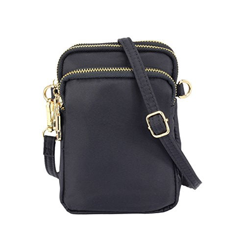 ZORFIN Nylon Small Crossbody Bags for Women Waterproof Cell Phone Purse