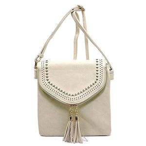 Americana Zipper with Tassel Envelope Style Crossbody Bag Tall Size