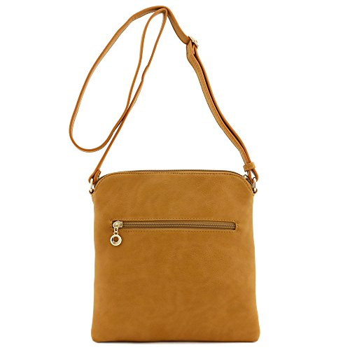 Tassel Zip Pocket Crossbody Bag (Mustard)