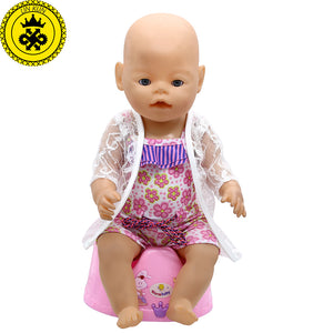 43cm Baby Born Zapf Doll Clothes Pink Beach Dress Suit + Scarf + Bag Baby Born Doll Accessories Children Best Gift 199