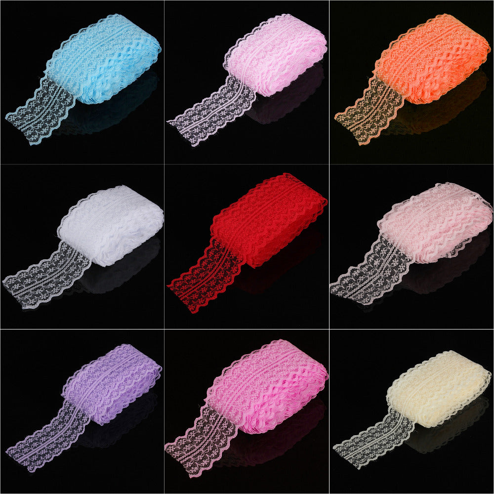 45mm width Cheap Lace Fabric Trim Ribbon 10yard/lot DIY Garment Accessories embroidered lace ribbon Bilateral
