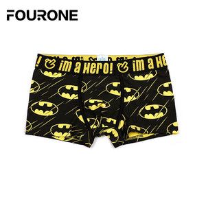 4colors Men Underwear Boxers Sexy underpant Cotton Male Panties Shorts Cartoon Printing Superman Batman