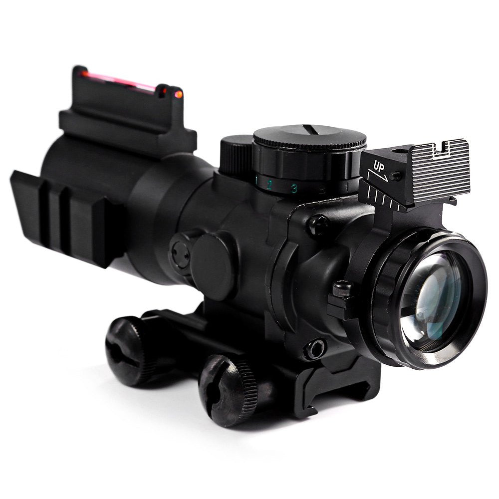 4x32 Acog Riflescope 20mm Dovetail Reflex Optics Scope Tactical Sight For Hunting Gun Rifle Airsoft Sniper Magnifier Air Gun