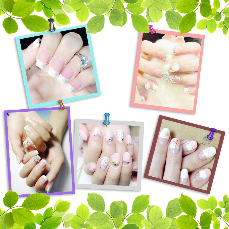 5 Packs French Manicure Smile Tip Guides Pedicure Diy Nail Art