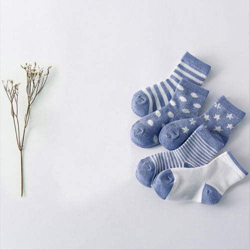 5 Pairs/pack Autumn Unisex Baby Boy Socks Fashion Mesh Children Sock Cotton Kids Girl Socks 0-10Y