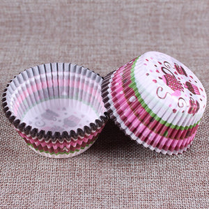 5 styles 100 pcs cupcake liner baking cup cupcake paper muffin cases Cake box Cup egg tarts tray cake mould decorating tools