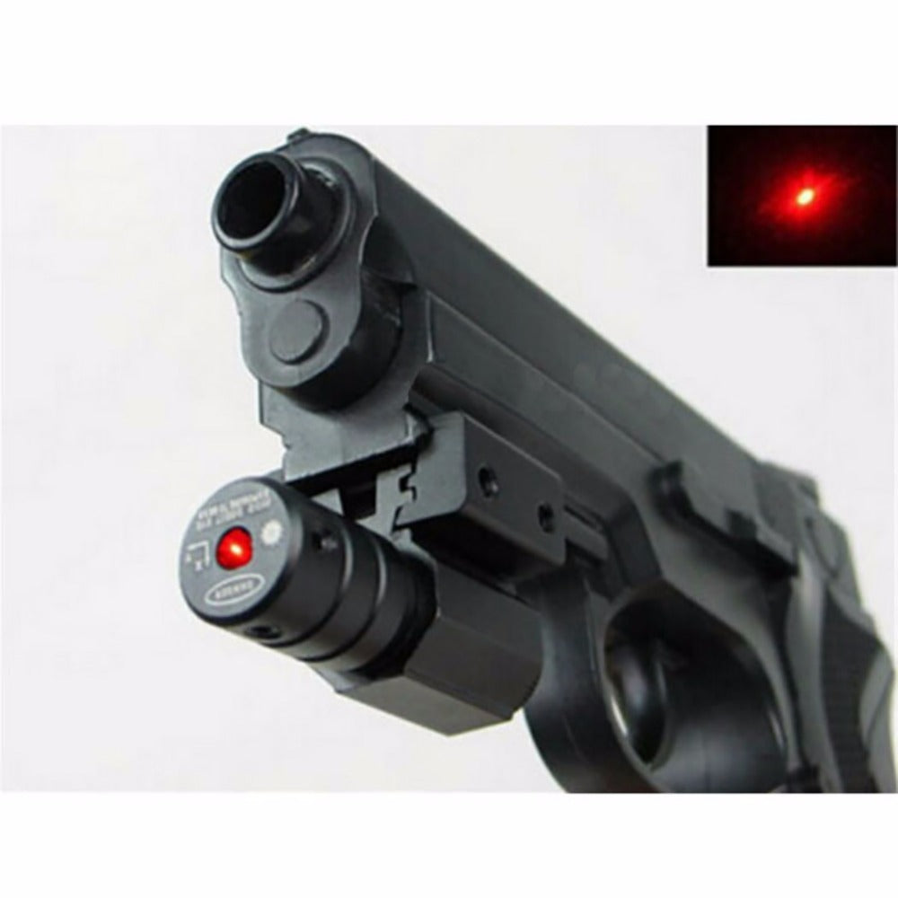 50-100M Range 635-655nm Red Dot Laser Sight Pistol Adjustable 11mm 20mm Picatinny Rail Hunting Accessory