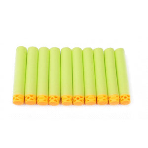 50 Pcs Hollow Soft Head 7.2cm Refill Darts for Nerf Series Blasters NEW STYLE Kid Toy Gun Clip EVA Bullets