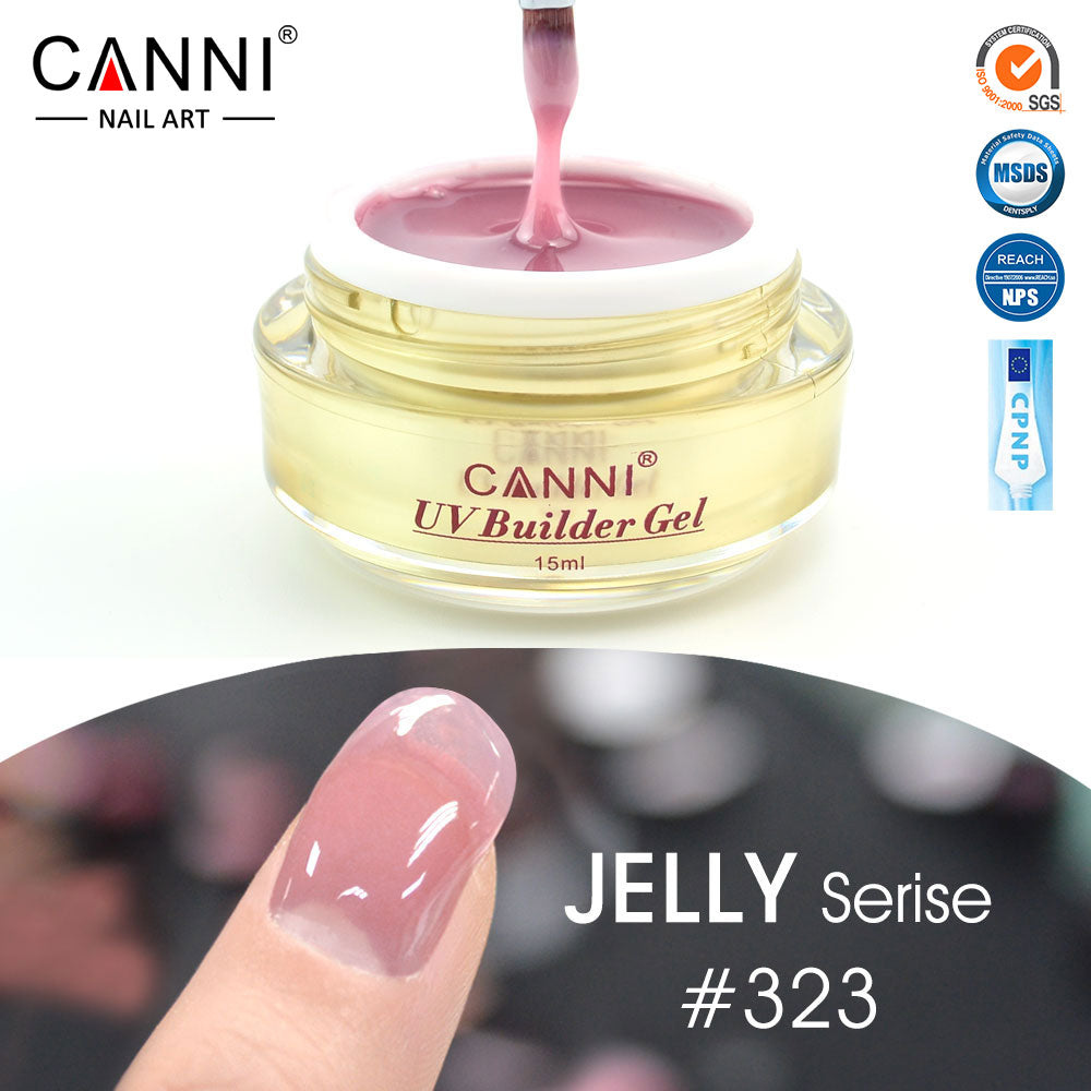 50951 Free Shipping Thick Builder Gel Nails Pink CANNI 15ml Finger ...