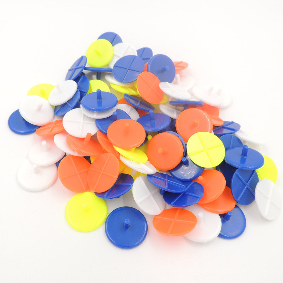 50PCS Transparent Plastic Golf Ball mark Position Markers Assorted Color Diameter 24mm Golf Ball Maker Base Accessories