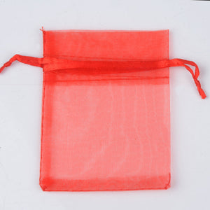50pcs 7x9 9x12 10x15 13x18CM Organza Bags Jewelry Packaging Bags Wedding Party Decoration Drawable Bags Gift Pouches 24 colors