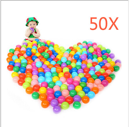 50pcs Colorful Ball Soft Plastic Ocean Ball Funny Baby Kid Swim Ball Pit Toy Water Pool Ocean Wave Ball 88 M09