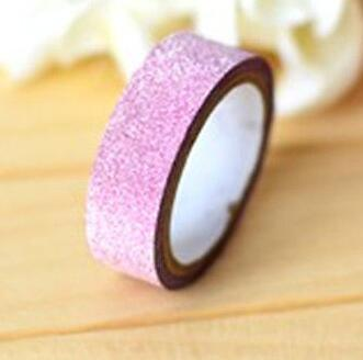 5M DIY Self-adhesive Glitter Washi Paper Tape Sticker Wedding Birthday Festival Decoration Home Decor