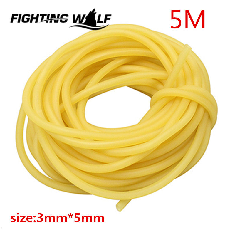 5M Natural Latex Tube Slingshot 3mmX5mm Yellow Color Replacement Band for Hunting Sling Shot Catapults Sling Rubber