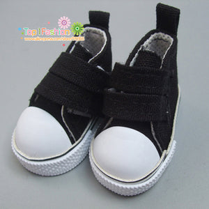 5cm Doll Shoes Denim Sneakers for BJD dolls,Fashion Denim Canvas Mini Toy Shoes 1/6 Bjd For handmade Doll
